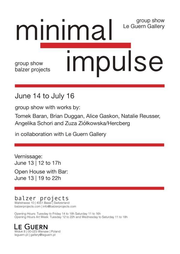 Minimal Impulse - Tomek Baran, Brian Duggan, Alice Gaskon, Natalie Reusser, Angelika Schori, Zuza Ziolkowska/Hercberg